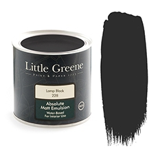 Little Greene Absolute Matt Emulsion Lamp Black 228