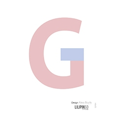 "Sticker alphabet ""HAPPY"" lettre G rose"