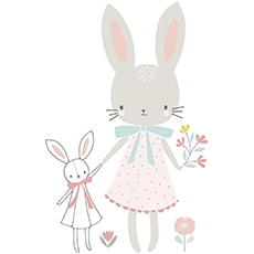 sticker bébé lapin