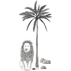 2017_FR/S1293_XL-lion_SMIMG.jpgSticker xl arbre et lion