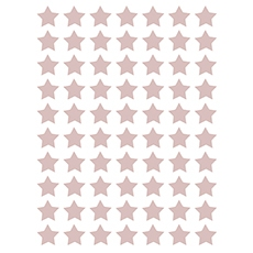 Stickers étoiles coloris dusty pink