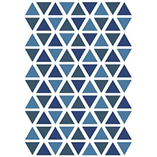 Stickers triangle coloris deep ocean