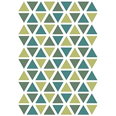 Stickers triangle coloris tropical