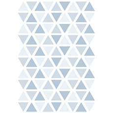 Stickers triangle coloris sweet bleu