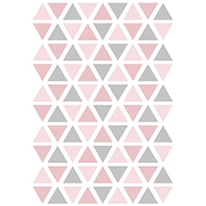 Stickers triangle coloris rose & gris