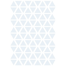 Stickers triangle coloris bleu layette