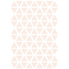 Stickers triangle coloris powder pink