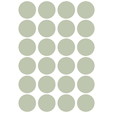 Stickers ronds coloris celadon