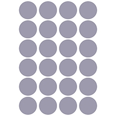 Stickers ronds coloris dusty lavender