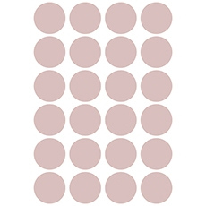 Stickers ronds coloris dusty pink