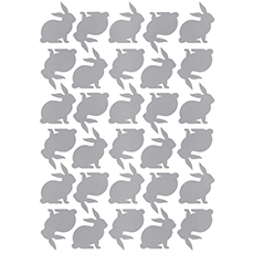 Stickers lapin coloris argent