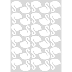 Stickers cygne coloris blanc