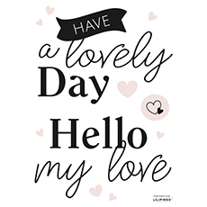 Stickers mots my love, a lovely day …